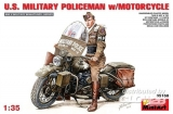6465168 / 35168 U.S.Millitary Policeman with Motorcycle, Kit