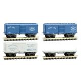 993 01 800 N Scale CWE Blue Line 4-Pack