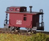 30053 Spur Nn3 RTR Colorado Southern 4 Wheel Caboose