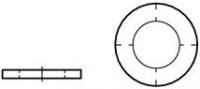 Unterlegscheiben Größe M 3, Ad 6,0, St 0,5 mm Pack mit 10 Stück